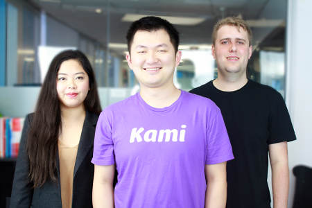 COO Alliv Samson, CEO Hengjie Wang, CTO Jordan Thoms